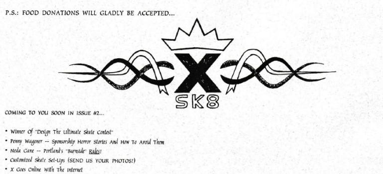 XSK8 Magazine Issue 1- January 1995